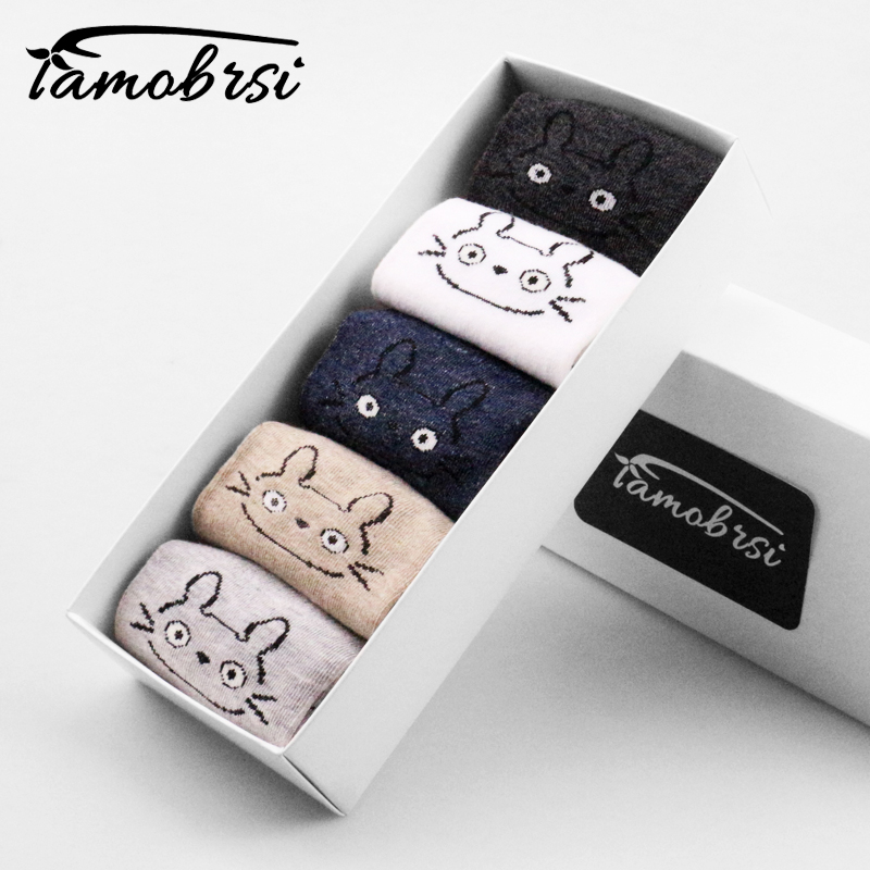 2018 Fashion Cute Animal Cat Totoro Happy Women Cartoon Girl Boat Straight Socks Cotton Short Socks Funny No Show Sock Slippers