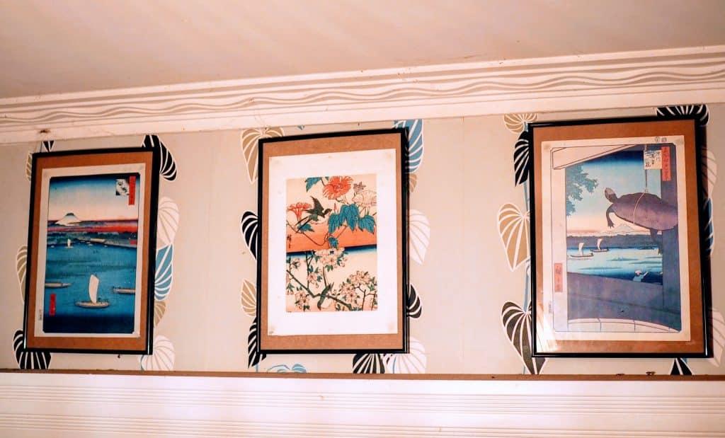 Displaying Ukiyo Prints on wall