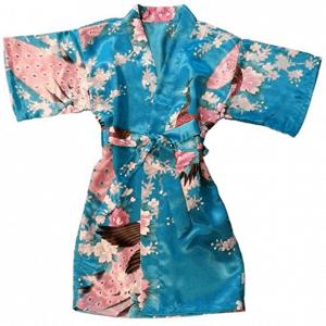 Short Satin Kimono Robe