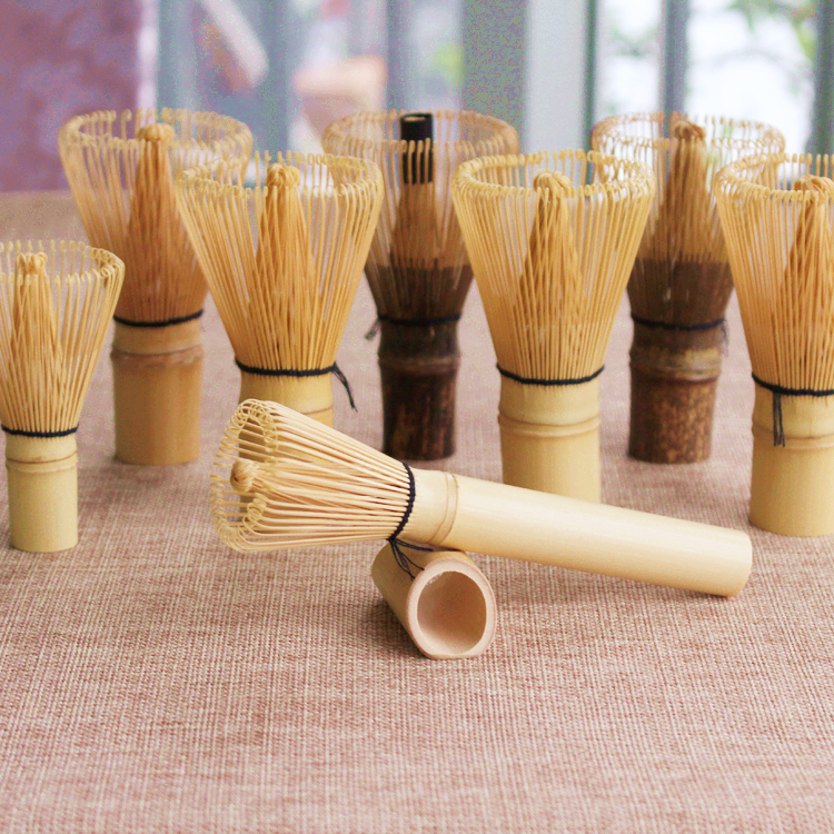 bamboo matcha green powder Japanese tea whisk, 2pcs matcha tea brush 100 prongs chasen whisk