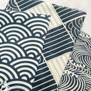Wave Pattern Kimono Fabric