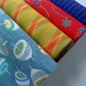 Vibrant Colored Wool Kimono Fabric