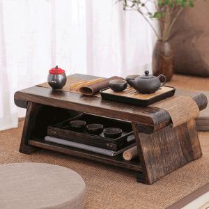 Multi Folding Wooden Japanese Tea Table