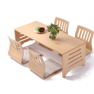 Folding Leg Japanese Table Set