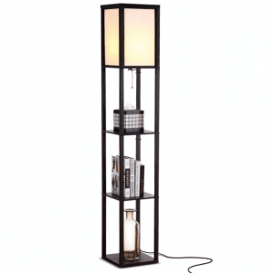Brightech Maxwell – Modern LED Shelf Floor Lamp