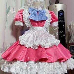 [Customize] Anime Demon Slayer Kimetsu no Yaiba Hashibira Inosuke Maid Uniform Dress Cosplay Costume Halloween Suit For Women Ou
