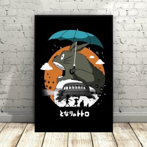 My Neighbor Totoro Princess Mononoke Art Canvas Poster Hayao Miyazaki Movie poster Wall Pictures for Living Room No Frame