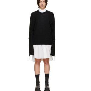 UNDERCOVER Black Wool Bondage Sweater